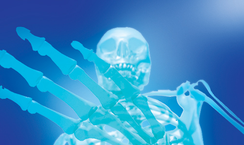 Health - skeleton graphic