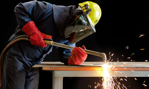 Human factors - man welding
